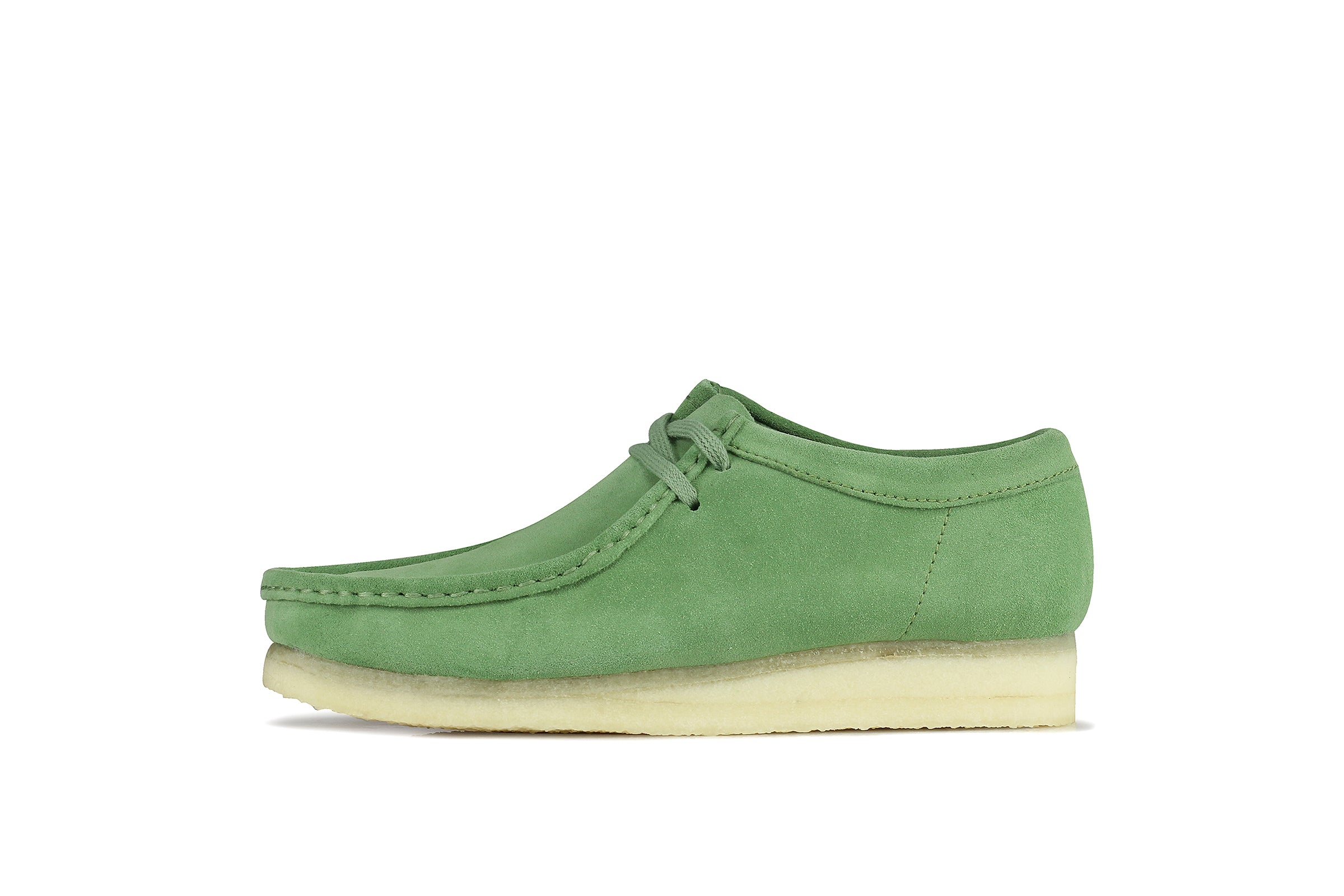 "Clarks Wallabee ""Cactus Green Suede"""