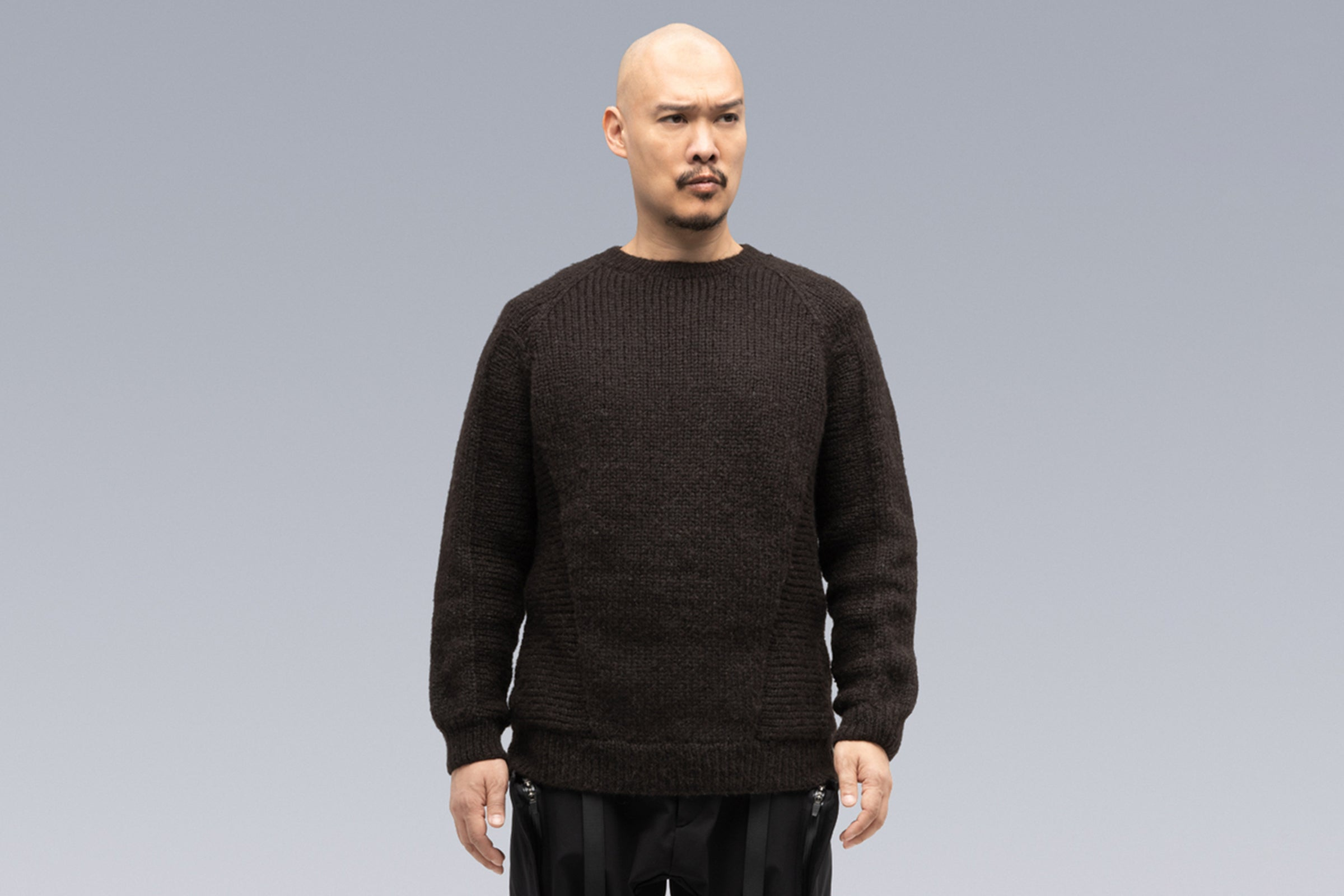 Acronym C1-AJ Hand-Knit Air Jet Crewneck Sweater