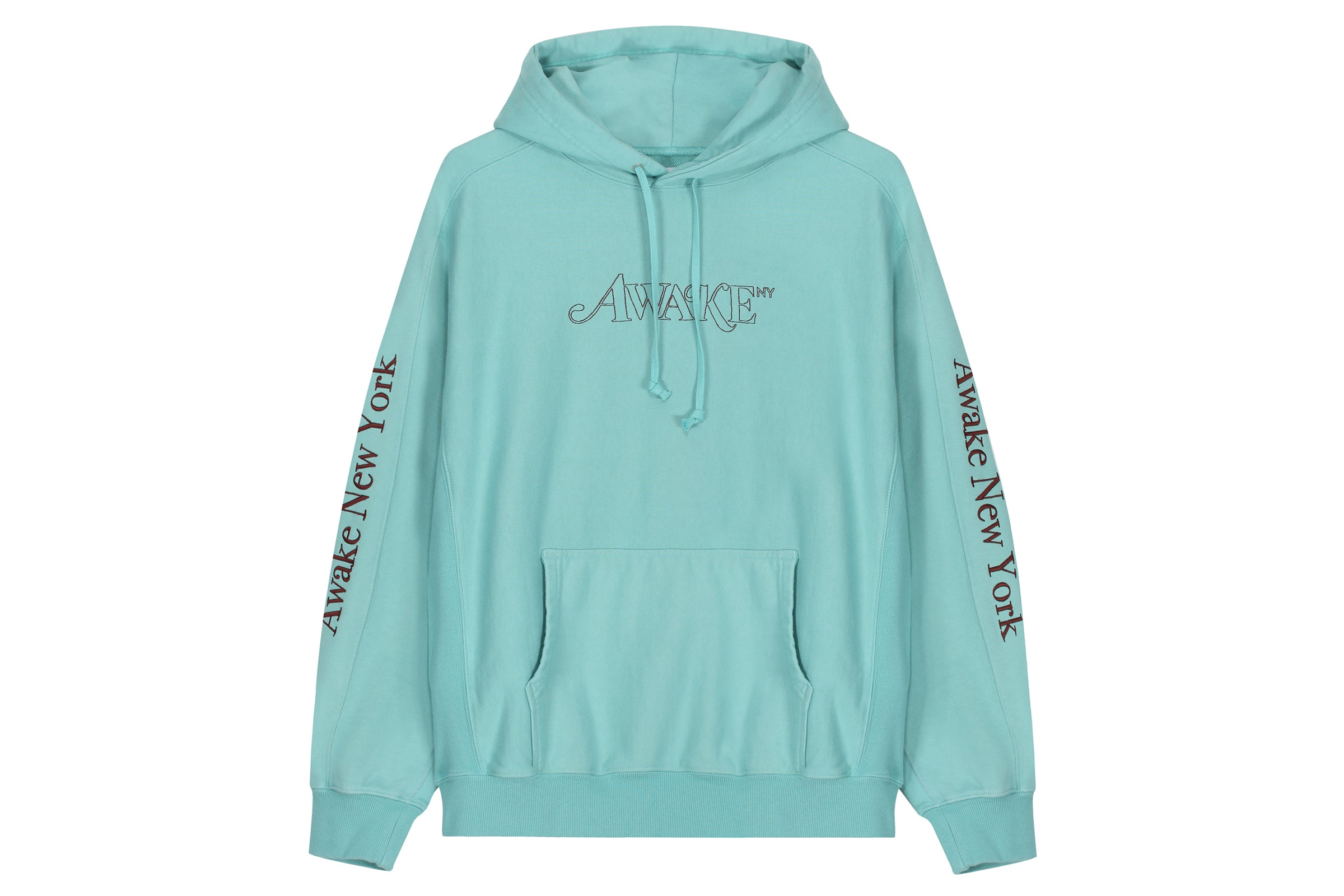 Awake Classic Outline Logo Paneled Embroidered Hoodie
