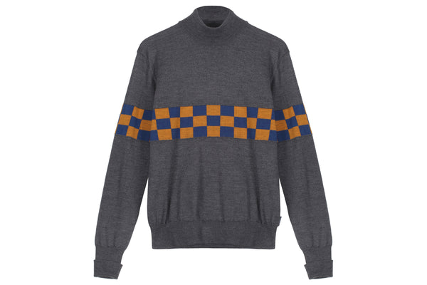 Anglozine T.E.C Checkerboard Turtle neck