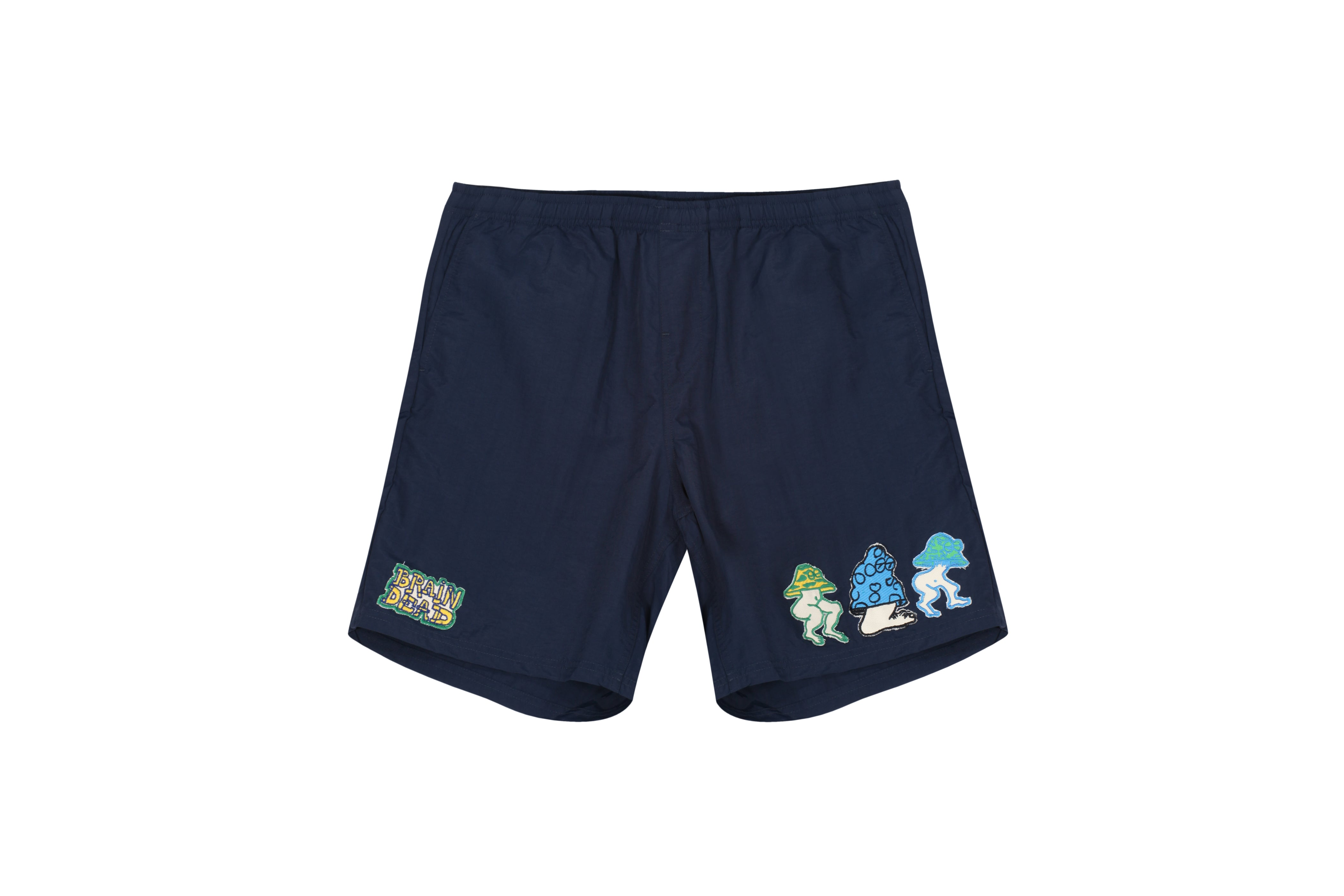 Braindead Mushroom Patch Nylon Beach Short