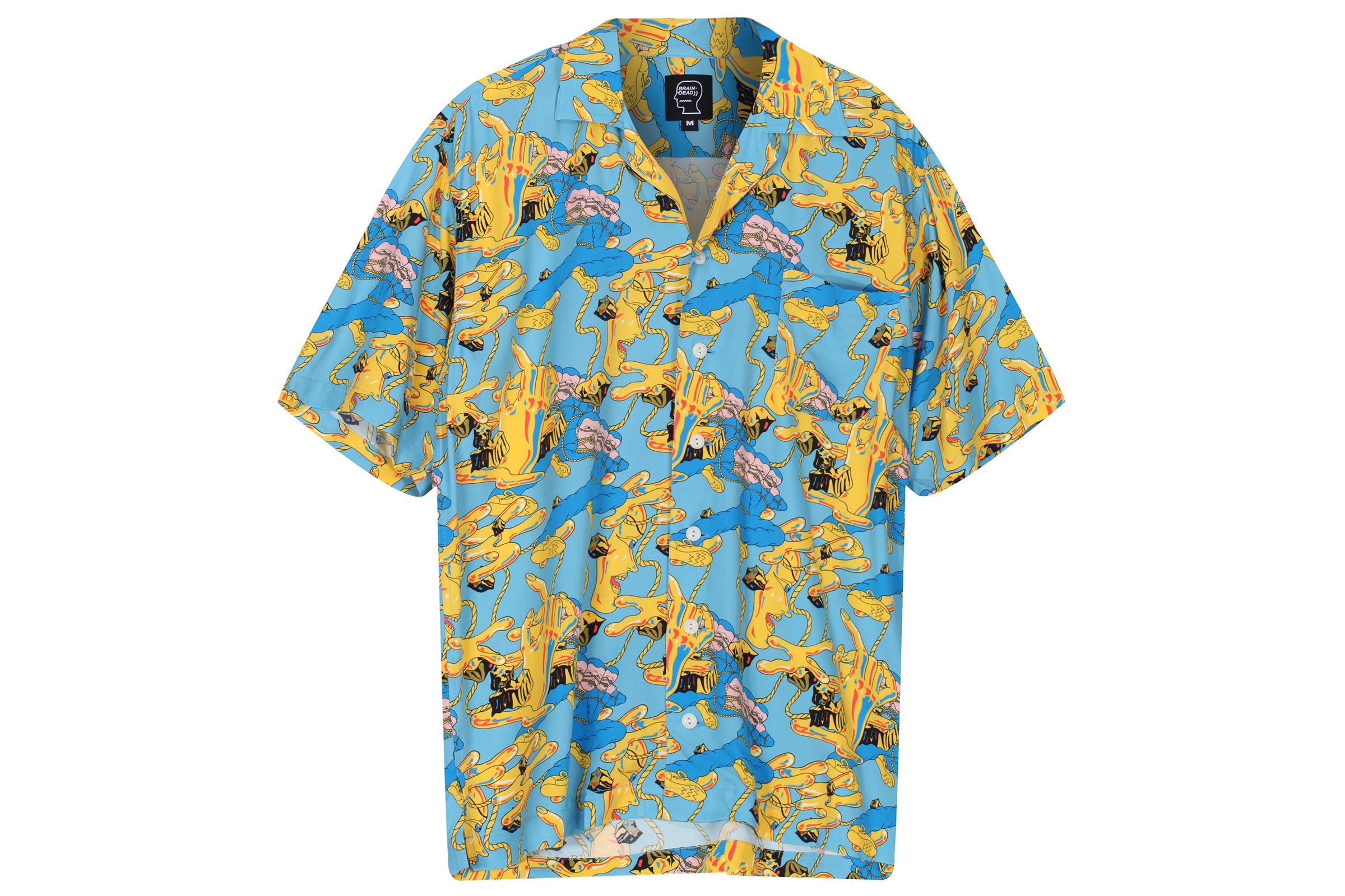 Braindead Jonny Negron Bondage Printed Short Sleeve Hawaiian Shirt