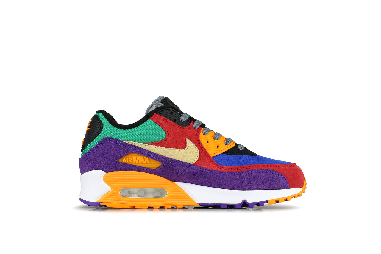 Nike Air Max 90 EUR 43 UK 8.5 US 9.5 Weiß White, Lila