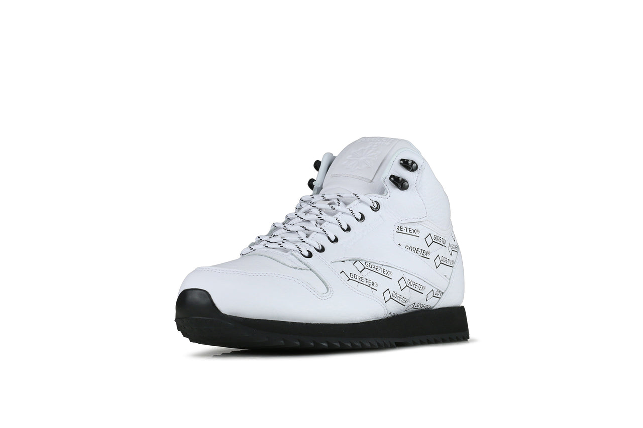 Reebok CL Leather Mid Ripple Gore Tex Black White