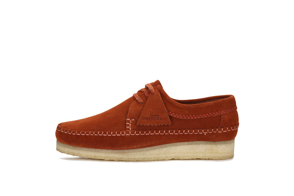 "Clarks Weaver ""Brick Red Suede"""