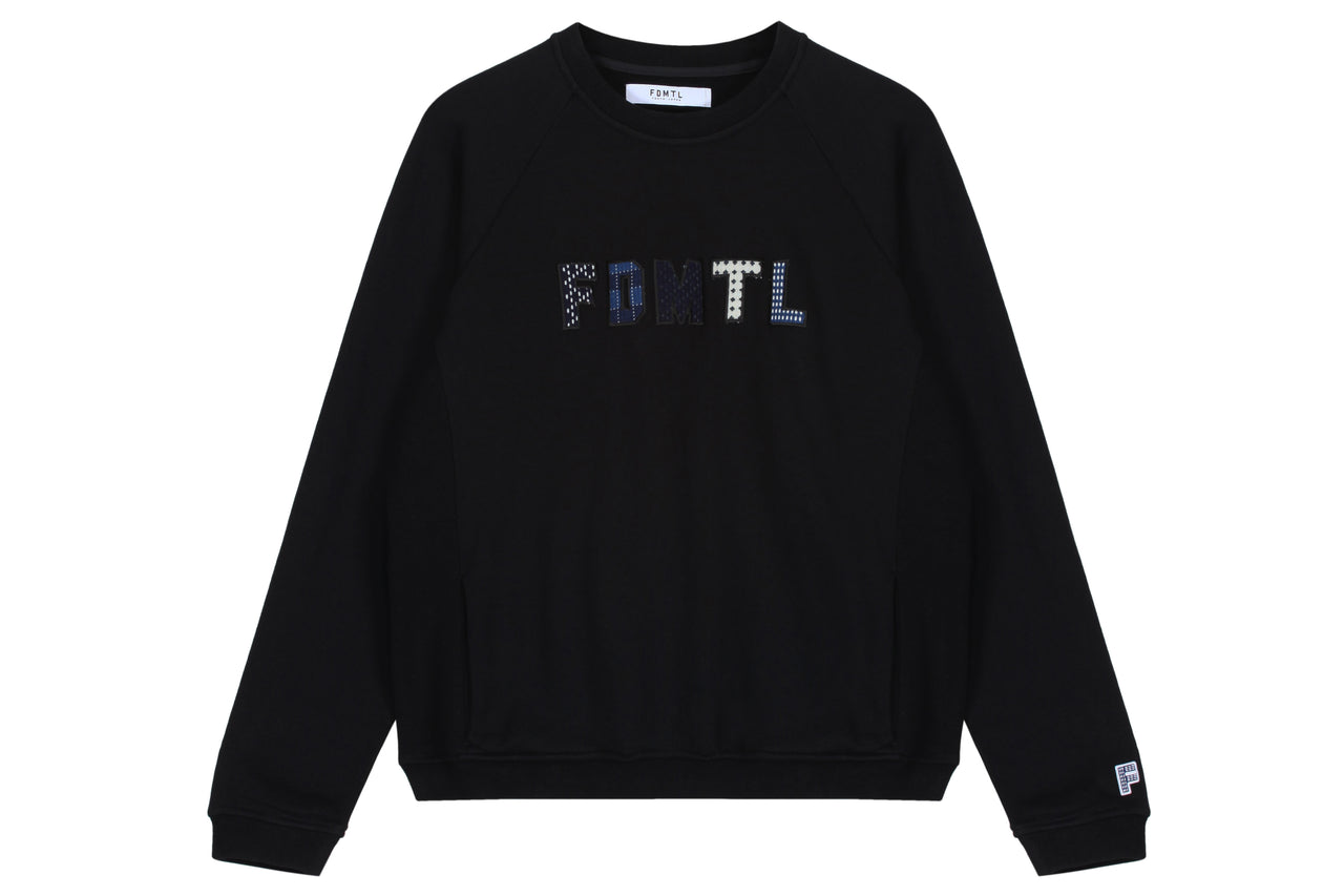 FDMTL Sashiko Logo Sweat Shirt