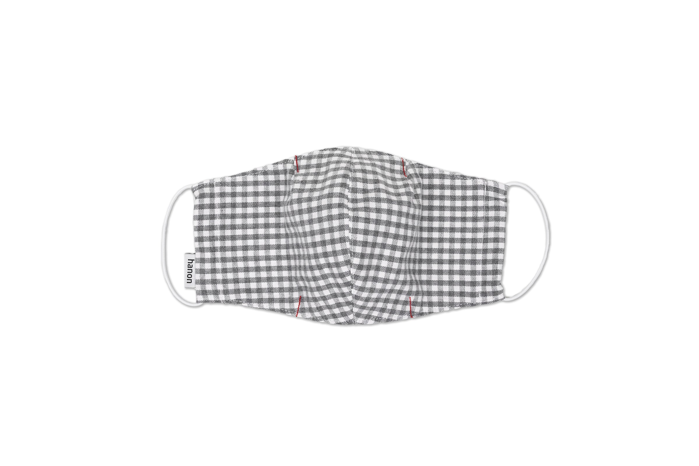 "Hanon Face Mask ""Light Grey Check"""