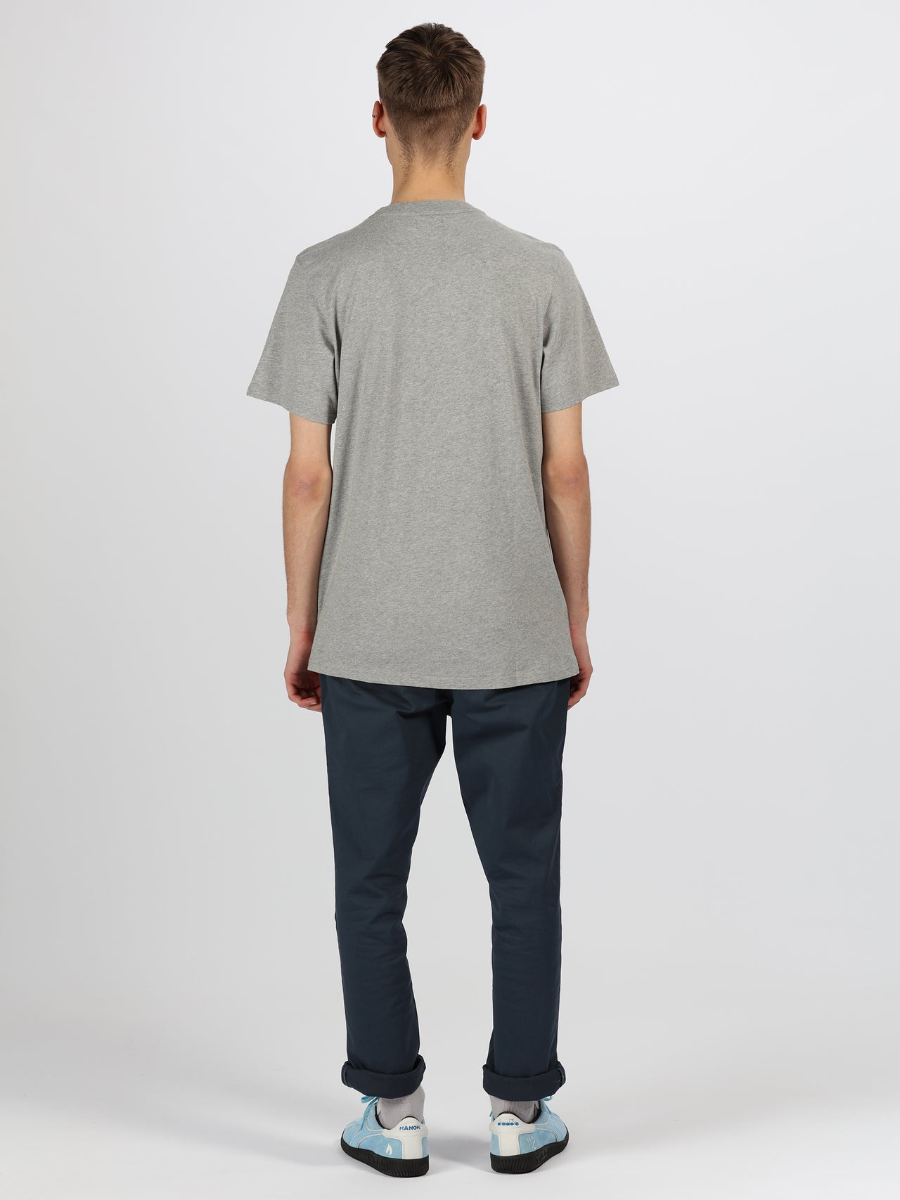 "Hanon Flame Badge Tee Double Pack ""Black/Grey Melange"""