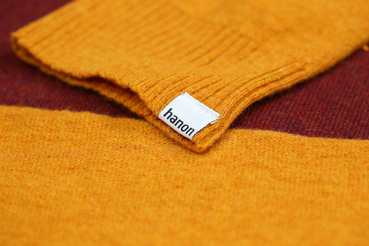 "Hanon Blocked Wool Knit ""Warm Yellow"""