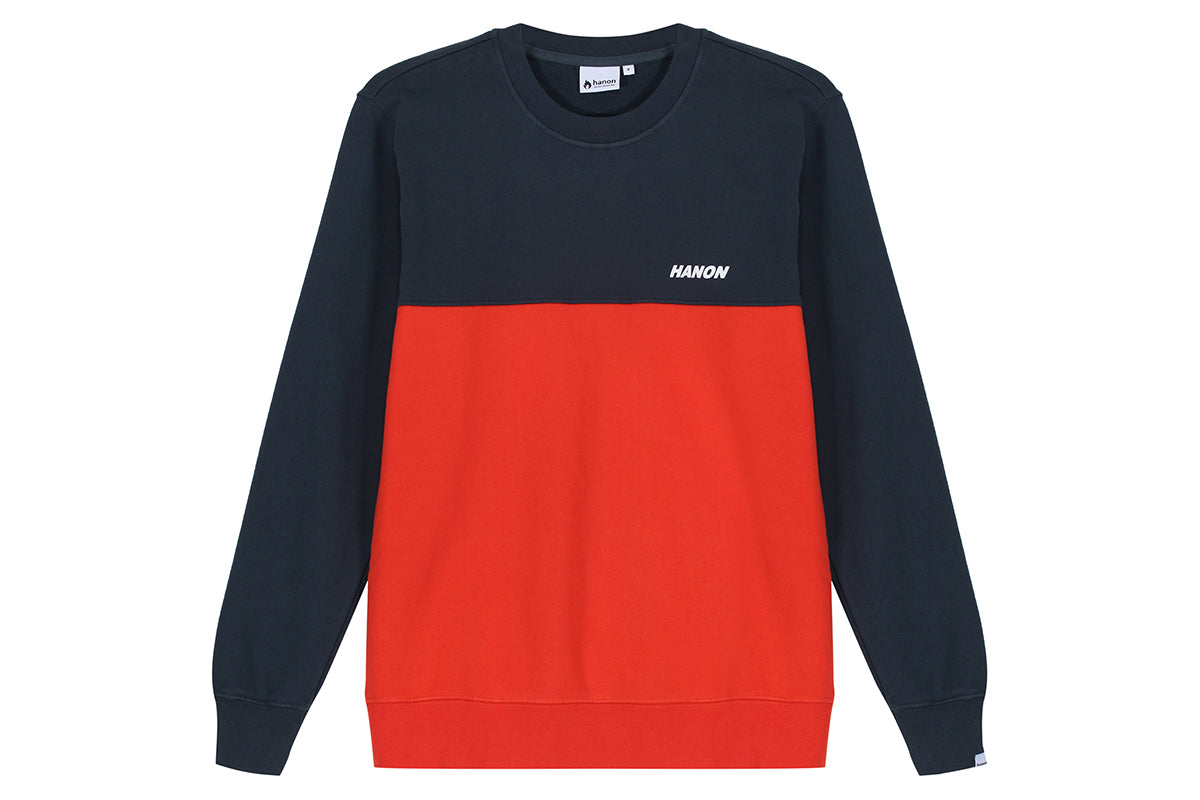 "Hanon Cut N Sewn Crewneck Sweatshirt ""Brick Red"""