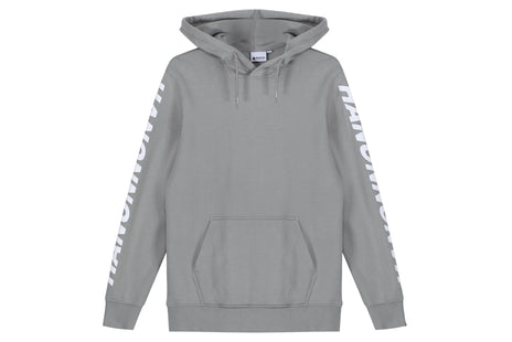 "Hanon Sleeve Printed Hooded Sweatshirt ""Monument Grey"""
