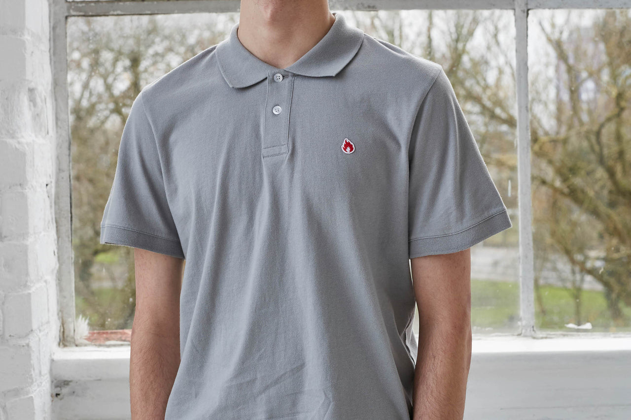 "Hanon Jersey Polo Shirt ""Monument Grey"""