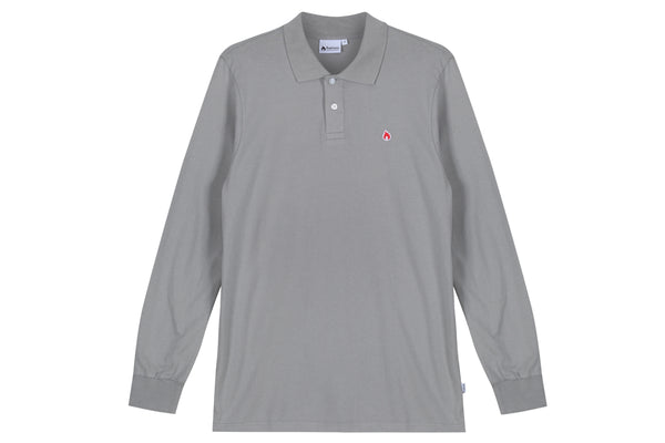 "Hanon LS Jersey Polo Shirt ""Monument Grey"""