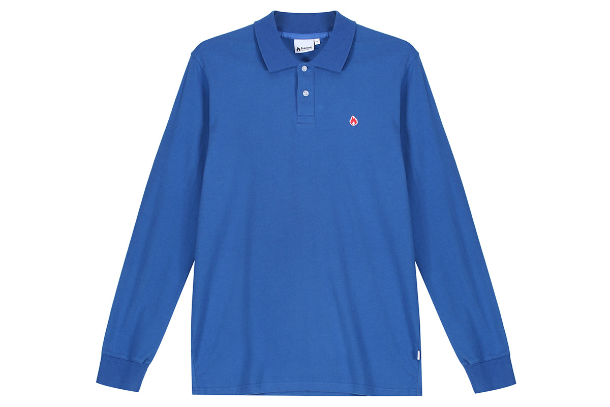 "Hanon LS Jersey Polo Shirt ""Royal Blue"""