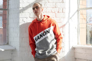 "Hanon Cut N Sewn Hooded Sweatshirt ""Bright Red"""