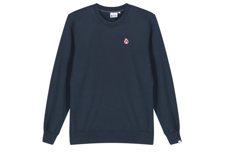"Hanon Flame Badge Crewneck Sweatshirt ""Petrol Navy"""