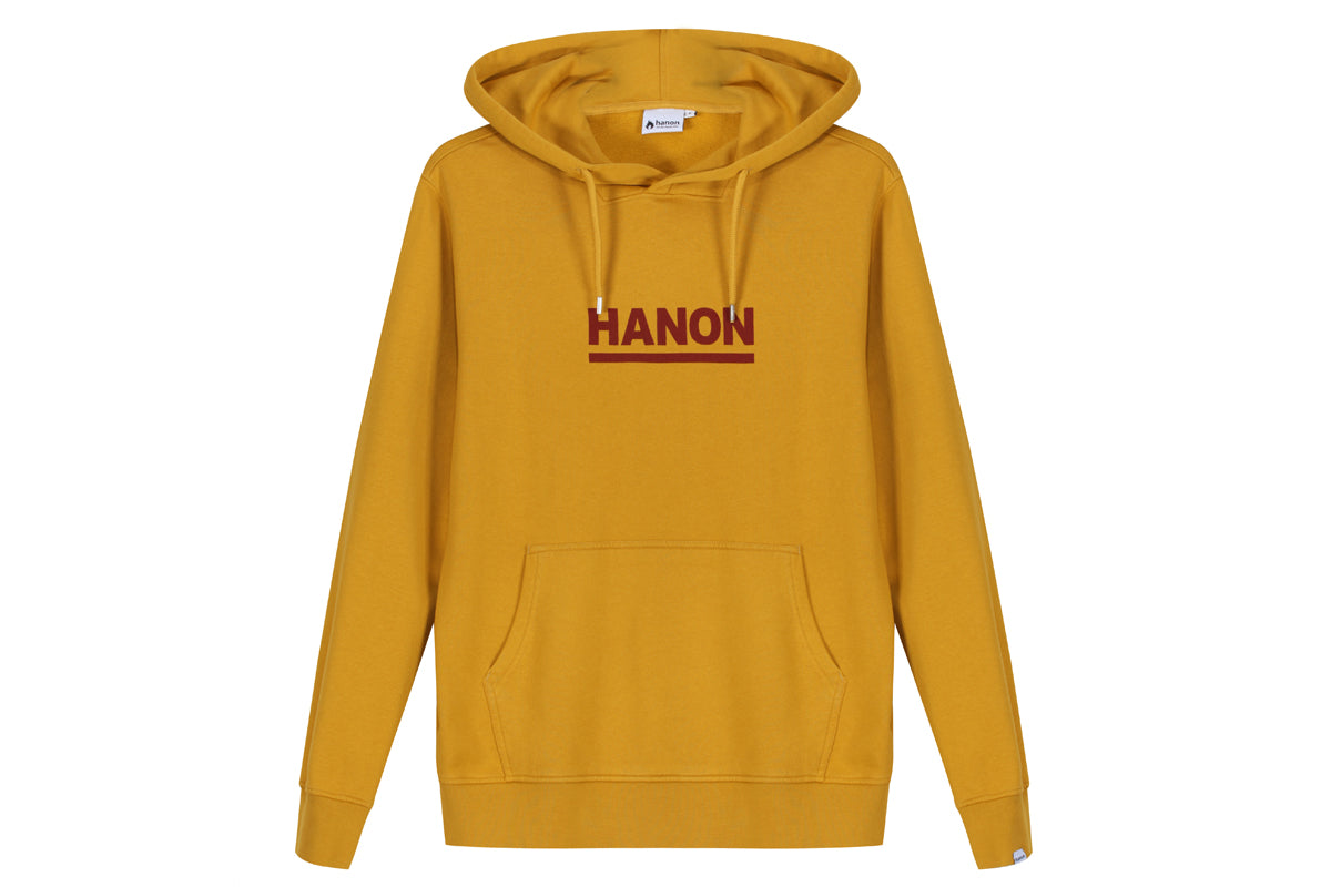 "Hanon Bar Logo Hooded Sweatshirt ""Dark Mustard"""