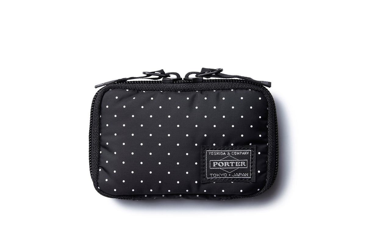Head Porter Dot Zip Key Case BK