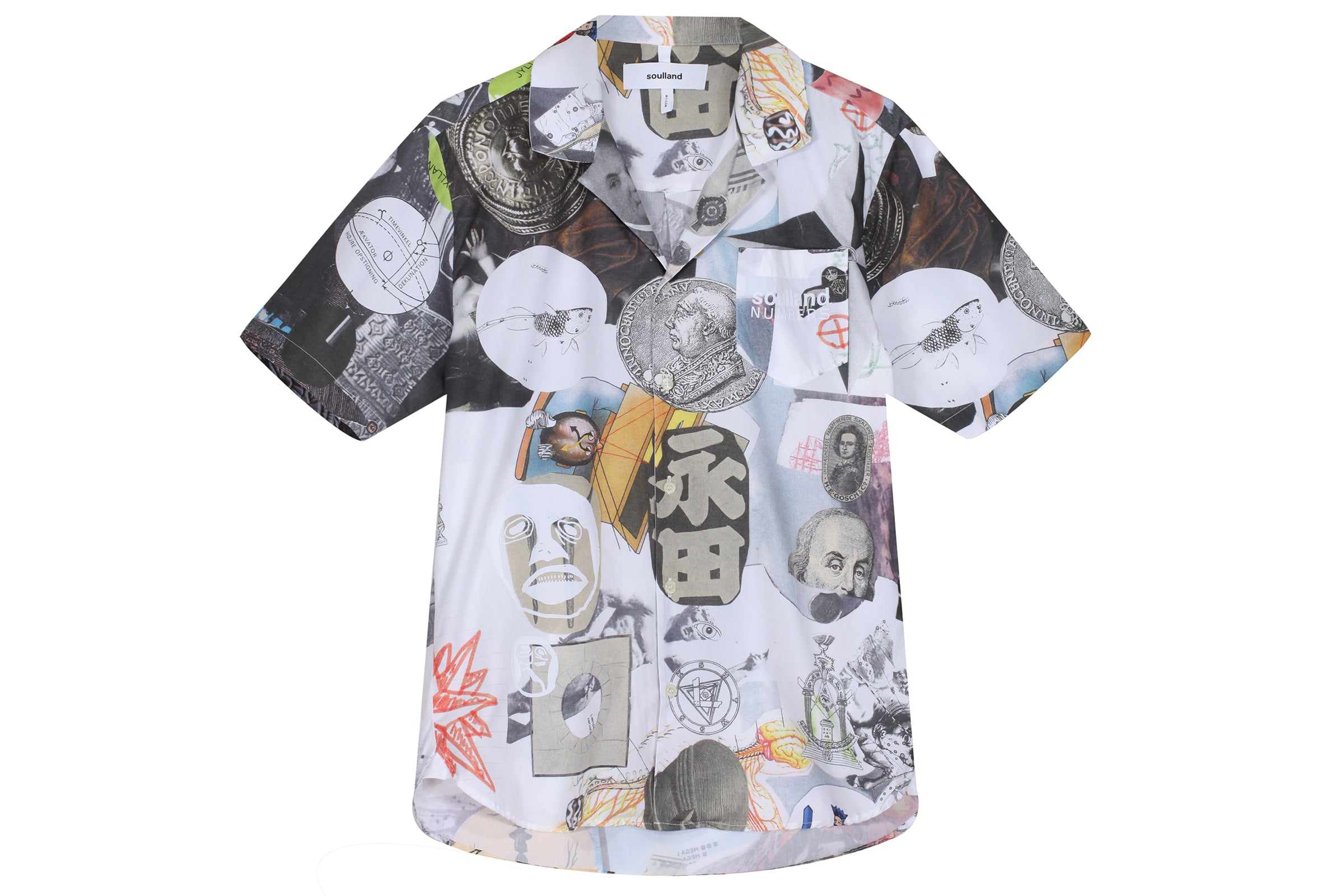 Soulland Collage Button Up Shirt x Numbers