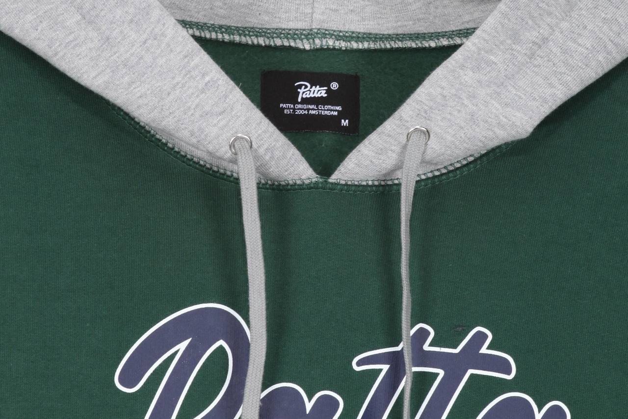 Patta Contrast Hooded Sweater