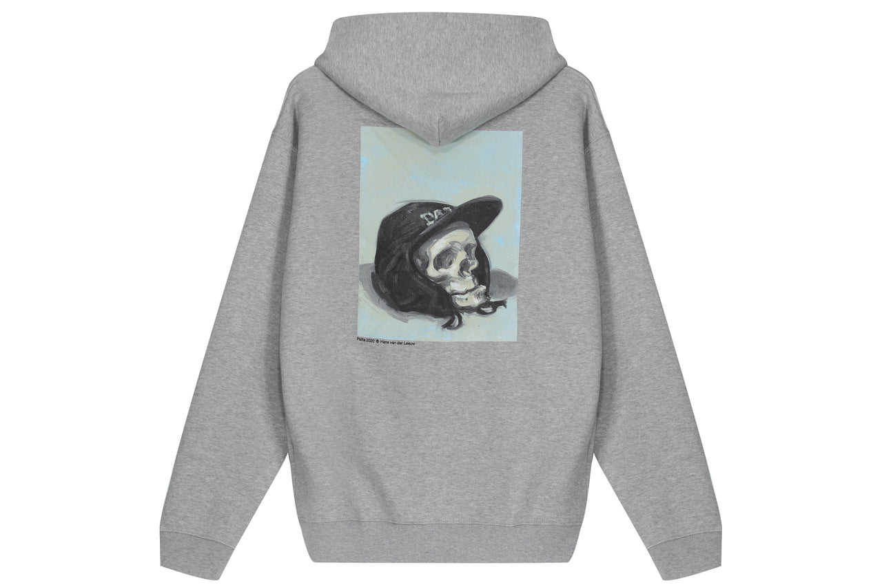 Patta Painted Skull Zip Hooded Sweater
