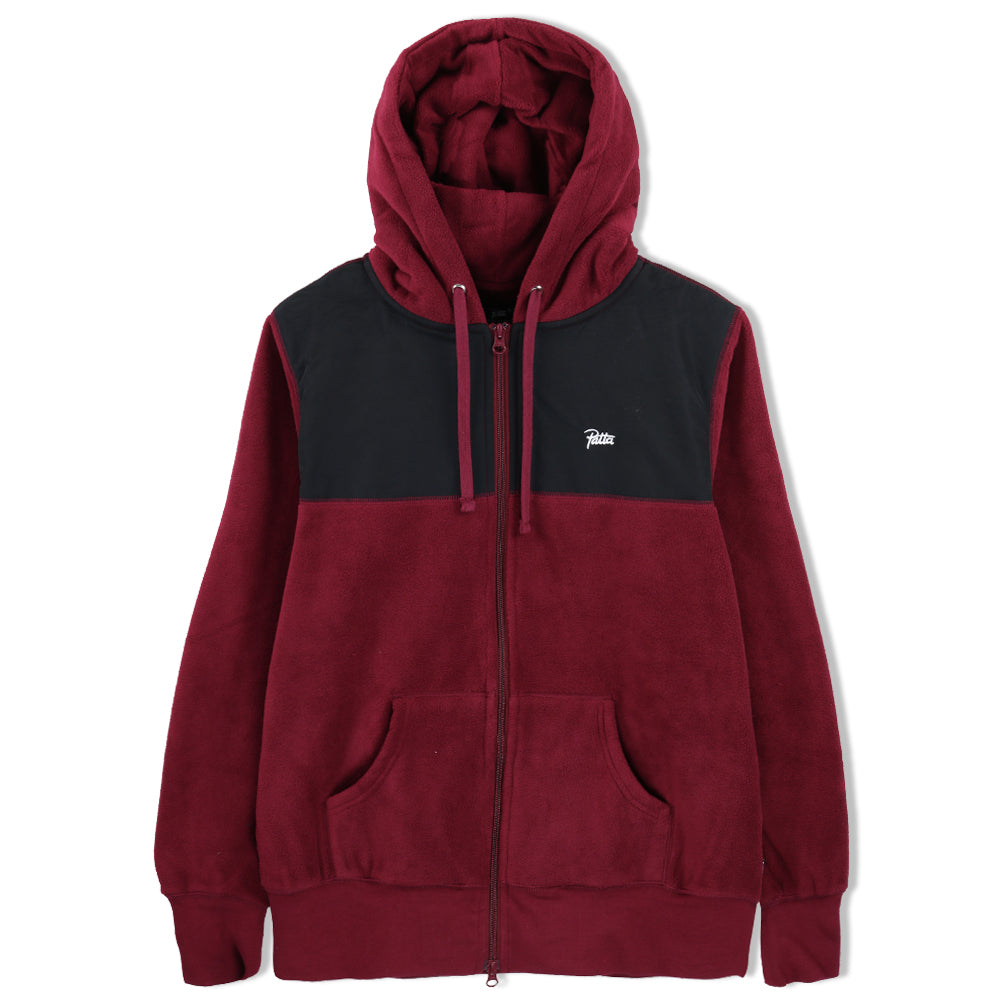 Patta 2-Tone Fleece Zip Hooded Sweater