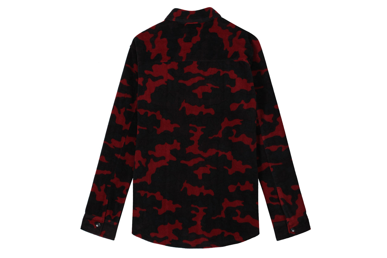 Patta Camo Fleece Overhead Shirt