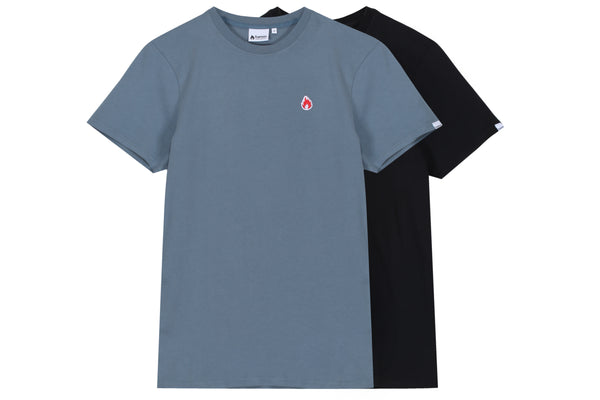 "Hanon Flame Badge Tee Double Pack ""Raf Blue/Black"""