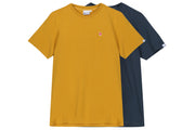 "Hanon Flame Badge Tee Double Pack ""Petrol Navy/Dark Mustard"""