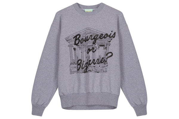 Aries Bourgeois Temple Crewneck Sweatshirt