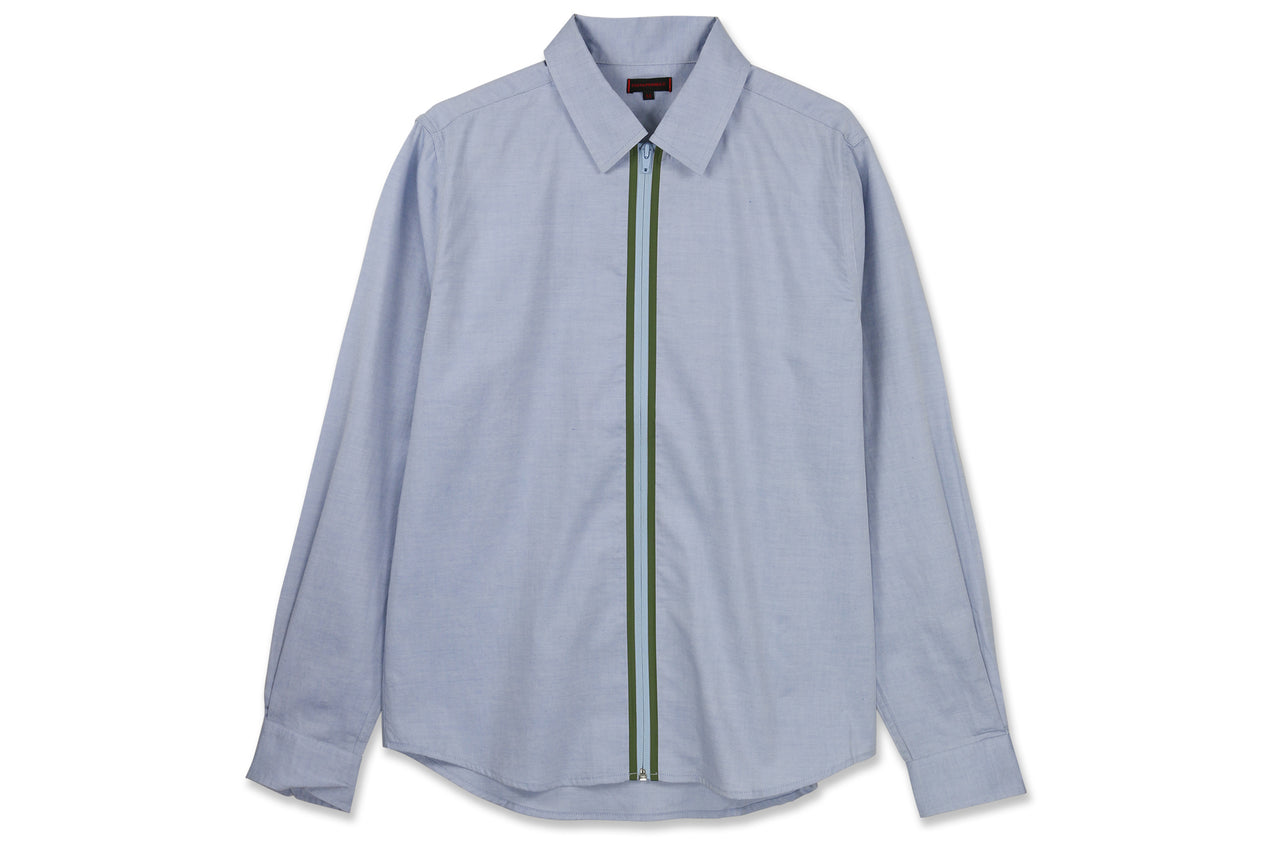 Clot Welded Zip Up Oxford Shirt