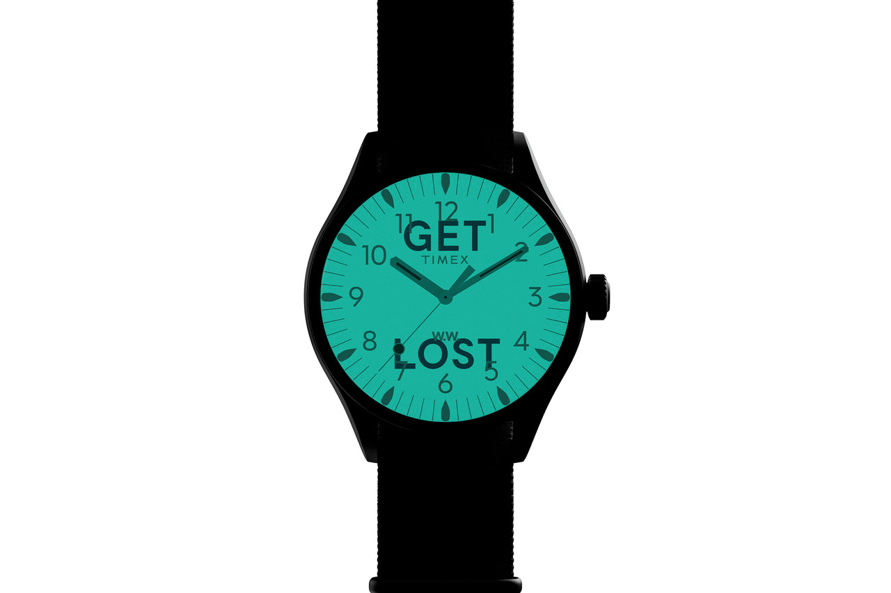 "Wood Wood x Timex ""Get Lost"" Waterbury Watch"