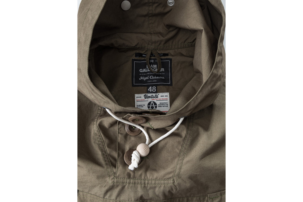 "Nigel Cabourn Ventile Long Smock x Liam Gallagher ""Nato Green"""