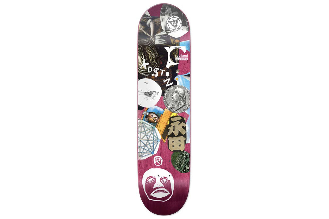 Soulland Skateboard Deck x Numbers x Eric Koston