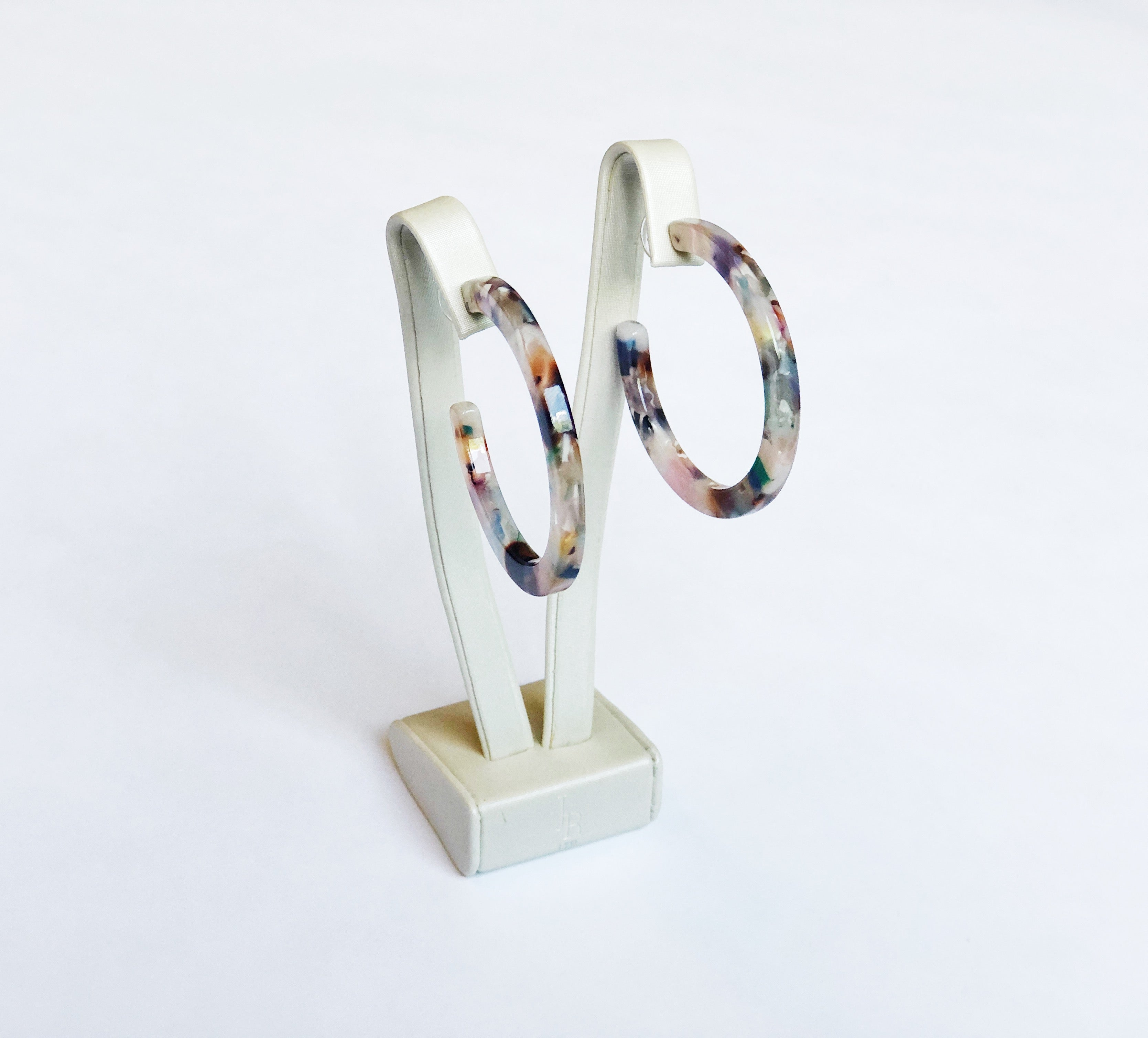 Tortoise Shell Hoop Earrings  Multi Color