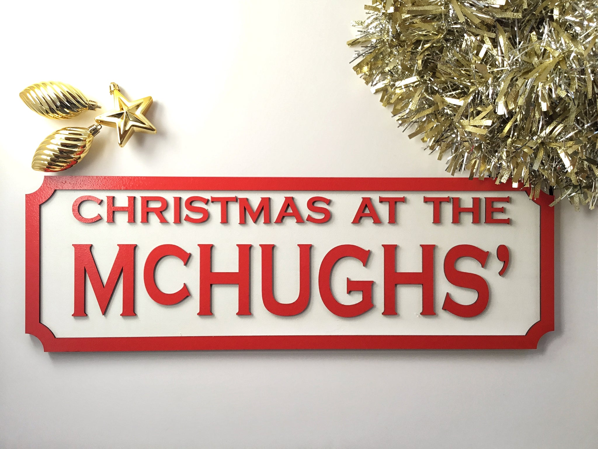 Personalised Christmas Street Sign Wood Christmas At The ......