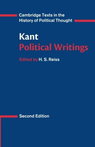 Kant: Political Writings (Cambridge Texts in the History of Political Thought)