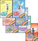 The Rainbow Magic Fairies (Original) Complete Set 1-7: Ruby the Red Fairy, Amber the Orange Fairy, Saffron the Yellow Fairy, Fern the Green
