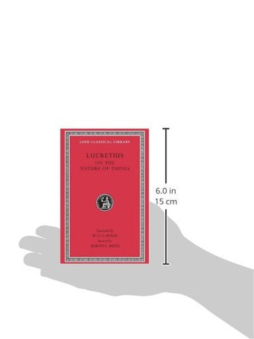 Lucretius: On the Nature of Things  (Loeb Classical Library No. 181) (Bks. 1-6)