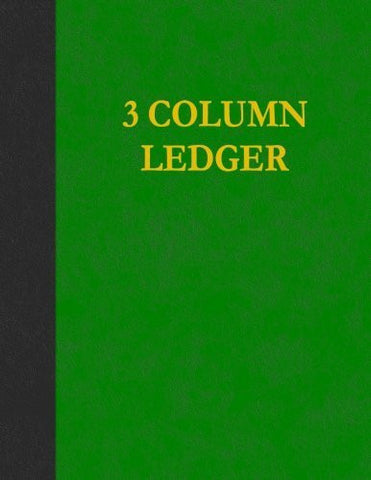 3 Column Ledger: 100 Pages