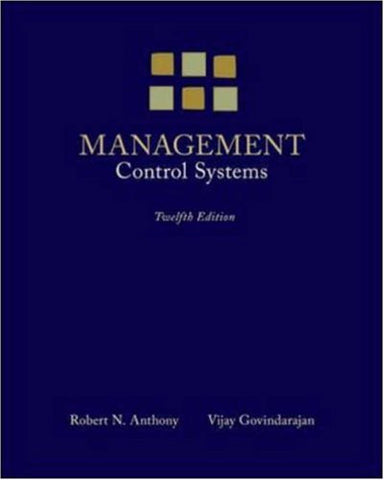 Management Control Systems (Irwin Accounting)