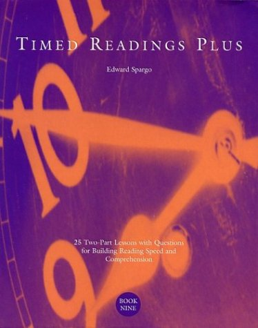 Timed Readings Plus:  25 Two-Part Lessons with Questions for Building Reading Speed and Comprehension, Book Three