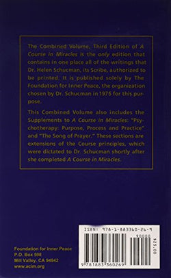 A Course in Miracles: Combined Volume (Vol. 1: A Course in Miracles; Vol. 2: Workbook for Students; Vol. 3: Manual for Teachers)