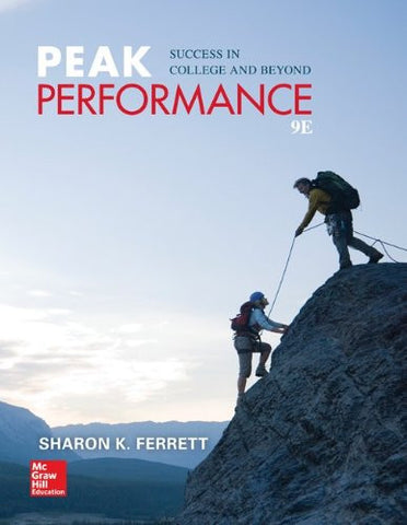 Peak Performance: Success in College and Beyond (Student Success)