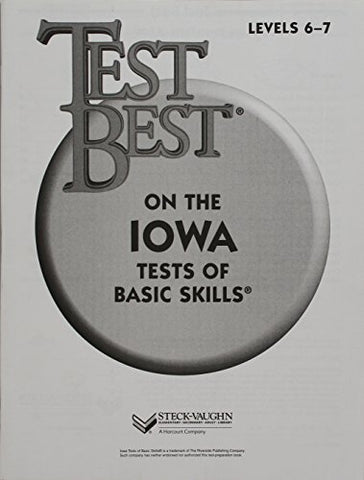 Test Best ITBS: Test Workbook Grade 1 (Level 6 - 7)