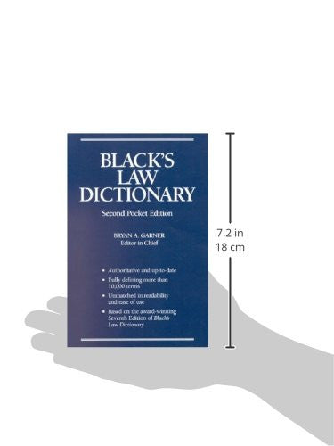 Black's Law Dictionary, Second Pocket Edition