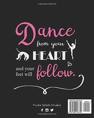 Dance Bullet Grid Journal: A Perfect Gift for Dancers and Teachers, 150 Dot Grid and Inspiration Pages, 8x10, Professionally Designed (Journ
