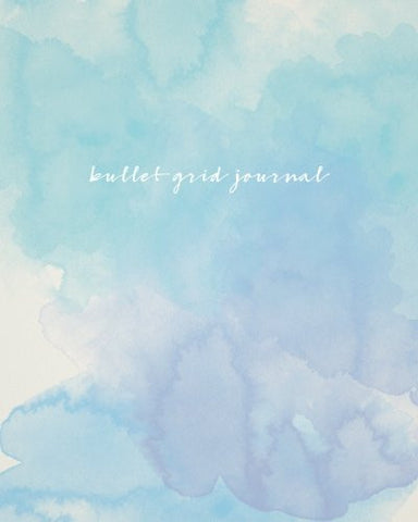 Bullet Grid Journal: Watercolor, 150 Dot Grid Pages, 8x10, Professionally Designed
