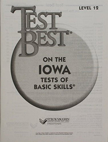Test Best ITBS: Test Workbook Grade 6 (Level 12)