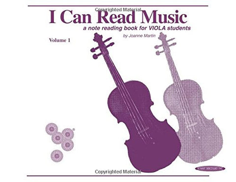 I Can Read Music: For Viola Volume 1